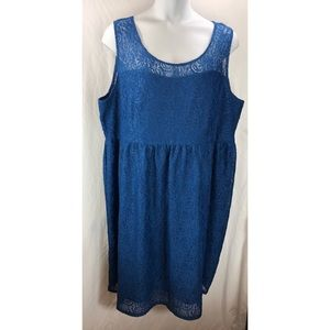 Lane Bryant lace fit & flare lined dress 5185